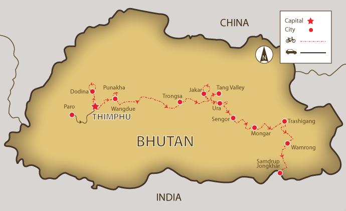 mystical_bhutan-map