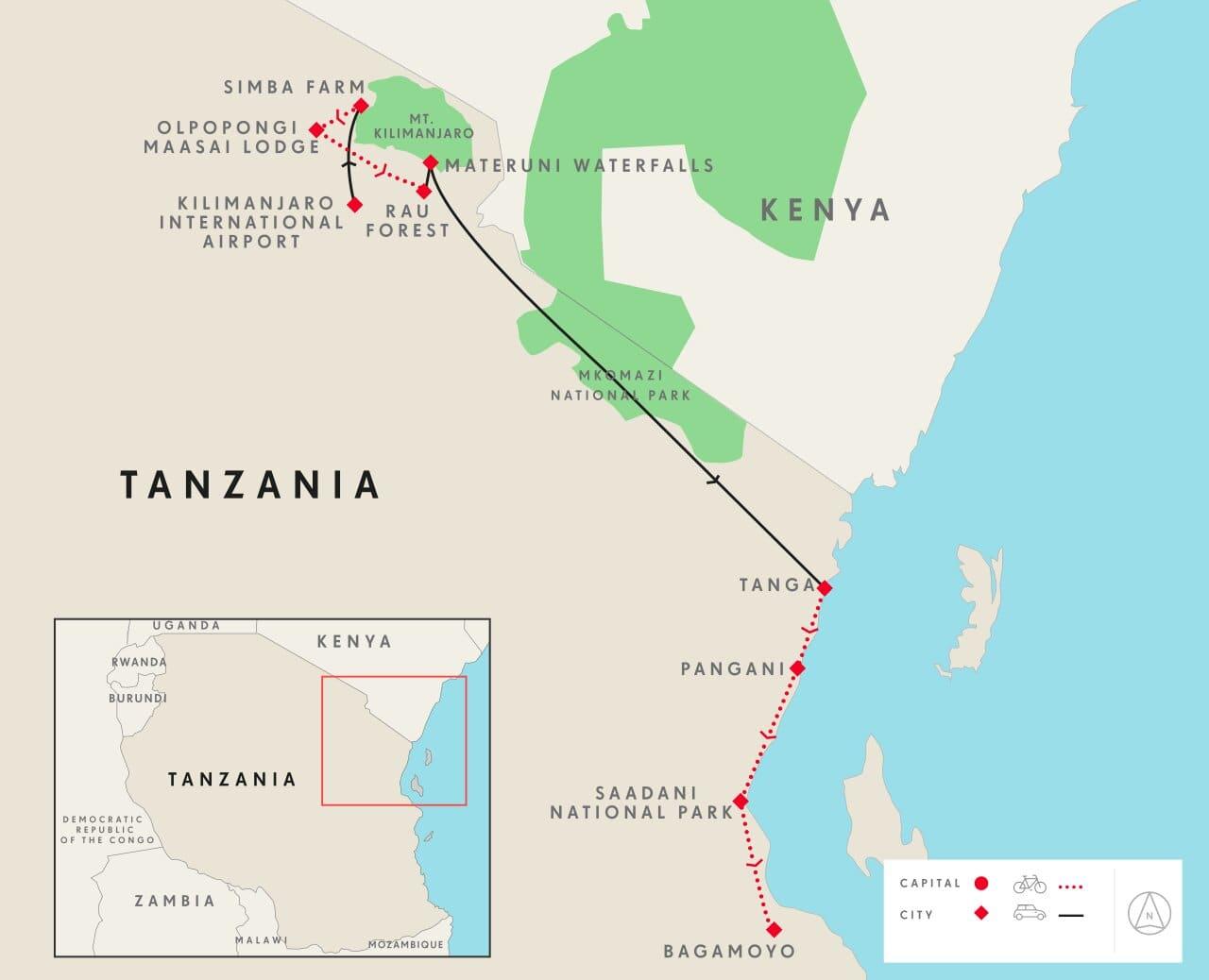 tanzania_cycling_tour-map